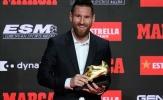 Giành giày vàng lần thứ 6, Messi bất ngờ tri ân hai cái tên