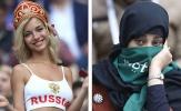 Sự đối lập của nữ CĐV: Saudi Arabia kín đáo, Nga hở táo bạo