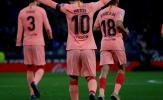 Điểm nhấn Espanyol 0-4 Barcelona: Cơn ác mộng Messi, Barca tìm thấy tam tấu mới?