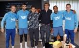 Barca đón tiếp 2 vị khách bất ngờ từ làng banh nỉ