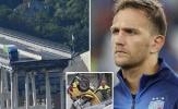Sập cầu tại Genoa, hai cầu thủ Serie A thoát chết