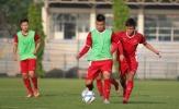 U19 Việt Nam đội nắng gắt tập luyện trong ngày đầu tập trung