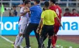 'Superman' U23 Việt Nam, Đoàn Văn Hậu nổi nóng với cầu thủ Uzbekistan