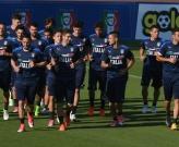 Buổi tập vắng nhiều trụ cột của đội tuyển Italia