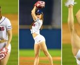 Hoa hậu cơ bắp Hàn Quốc gây sốt với hình ảnh chơi bóng chày