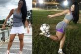 Kinh ngạc trước vẻ bốc lửa của VĐV bóng đá nghệ thuật Brazil