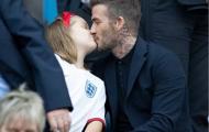 David Beckham cùng con gái xuất hiện bất ngờ trên khán đài