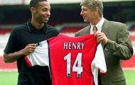 Thierry Henry lý giải vì sao chọn số áo 14 ở Arsenal