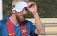 Bịt mắt, Messi vẫn khuất phục được tuyển thủ Tây Ban Nha