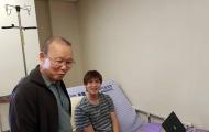 HLV Park Hang-seo ân cần thăm hỏi Tuấn Anh tại Hàn Quốc