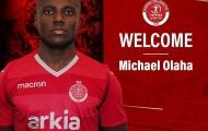 SLNA sắp mất Michael Olaha vào tay đội từng dự UEFA Champions League