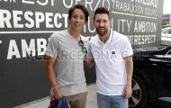 Messi bất ngờ gặp gỡ và giao lưu với siêu sao trượt ván
