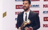Chùm ảnh Messi cùng gia đình và đồng đội nhận Chiếc giày vàng