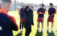 Valverde cùng học trò chuẩn bị cho trận Siêu cúp Catalan