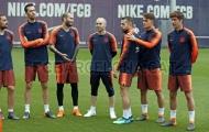 Buổi tập cuối cùng của Iniesta trong màu áo Barca