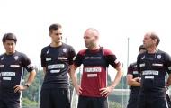 Iniesta tập luyện cùng CLB mới