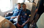 Dàn sao Barca phấn khởi trước trận so tài với Iniesta, David Villa