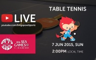 Trực tiếp SEA Games 28 ngày 7/6: Môn bóng bàn