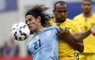 Uruguay thắng nhọc trước Jamaica