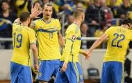 Thụy Điển 3-1 Montenegro (Vòng loại Euro 2016)