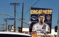 Hình ảnh của Gerrard đã xuất hiện tại LA Galaxy
