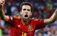 Jordi Alba đánh đầu ghi bàn cho Tây Ban Nha