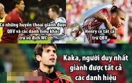 """Ảnh chế: Ronaldo và Messi chỉ """"xách dép"""" cho Kaka"""