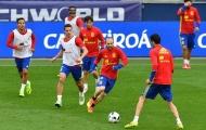 Chỉnh đốn đội hình, Tây Ban Nha tập luyện buổi thứ hai