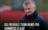 HLV Solskjaer cập nhật lực lượng Man Utd trước trận gặp West Ham