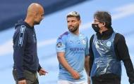 XONG! Aguero vắng mặt trận Man City gặp Lyon