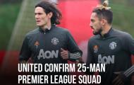 CHÍNH THỨC! Man Utd công bố danh sách dự Premier League: Xuất hiện cái tên gây choáng