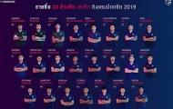 ĐT Thái Lan chốt 23 cái tên dự Asian Cup, thiếu vắng 'bàn tay thép'