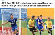 Báo châu Á: B.Bình Dương đã chấm dứt giấc mộng của Persija Jakarta