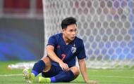 Sát thủ U23 Thái Lan dính chấn thương, HLV Nishino lo sốt vó