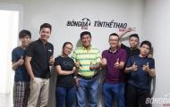 Văn phòng BongDa.com.vn đón cựu danh thủ Trần Minh Chiến mùa EURO