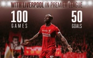 100 trận cán mốc 50 bàn Premier League, Mane vẫn chậm hơn 5 cái tên Liverpool
