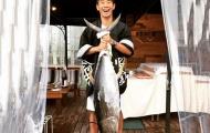 Kagawa khoe bắt được cá ngừ đại dương