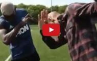 Paul Pogba dạy Thierry Henry cách ăn mừng bàn thắng