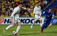 Cristiano Ronaldo bất lực trước hàng thủ Las Palmas