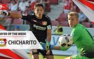 Cú hat-trick của Chicharito vào lưới Mainz
