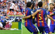 Messi sút thành công phạt đền rồi chạy tới khiêu khích CĐV Valencia