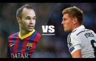 Andres Iniesta vs Toni Kroos - Ông chủ tuyến giữa