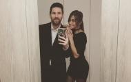 Messi và bạn gái mặc đồng phục đen đi ăn sinh nhật Neymar