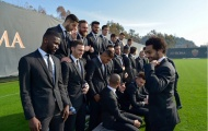 Chùm ảnh: Một loạt 'soái ca' xuất hiện trên sân tập của Roma