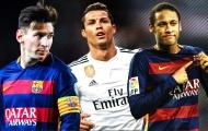 So tài sút phạt của Messi - Ronaldo - Neymar