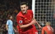 Lộ mức lương mới của Adam Lallana tại Liverpool
