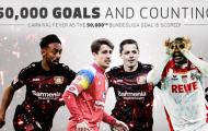 Bundesliga không chỉ có cột mốc 50.000 bàn thắng để ăn mừng