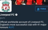 Man Utd yêu cầu Liverpool phải đổi ngay thông tin trang chủ