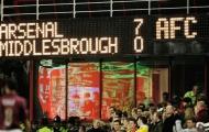 Những trận thắng đậm đà của Arsenal dưới thời Wenger