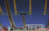 1.000 CĐV của Roma tới sân tập, nhưng Olimpico vẫn vắng người